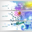 Royalty-Free Stock Vector Image: Set of three banners, abstract headers.