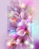 Fondo artístico flor — Vector de stock