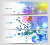 Set van drie banners, abstracte headers. — Stockvector