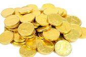 Golden euro coins — Stock Photo