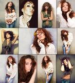 Girls collage — Stock Photo