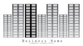 Logo design for financial or real estate business company — Stock Photo