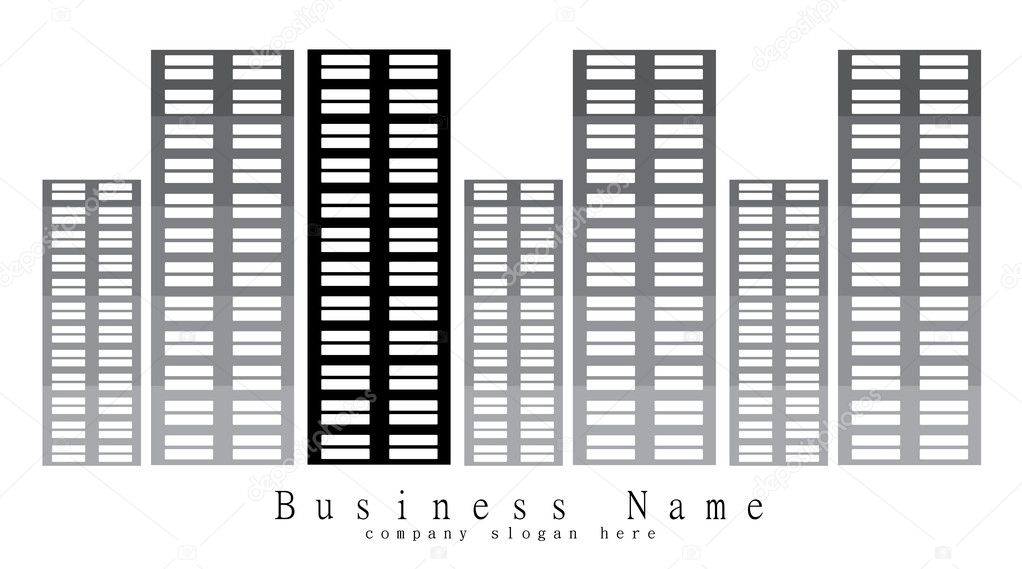 Design for financial or real estate business company - stock image