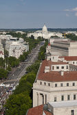 Aerial view of the Capitol building — Stock Photo