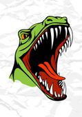 Tyrannosaurus head — Stock Vector