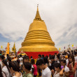 Golden Mount Temple, Bangkok, Thailand - Stock Photo