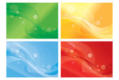 Set of vibrant wavy backgorunds — Stock Vector