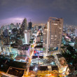 Thunderstorm Bangkok City View (fisheye) Thailand — Stock Photo