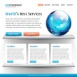 Superb web site design template — Vettoriali Stock