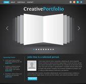 веб-дизайн портфолио шаблона — Cтоковый вектор