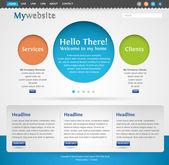 Modello di progettazione sito web creativo moderno — Vettoriale Stock