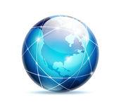 Globus ikona — Stock vektor