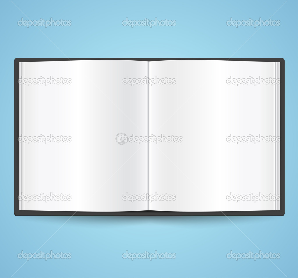 Open book vector icon — Stock Vector #11248627
