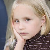 Triste menina adolescente — Fotografia Stock