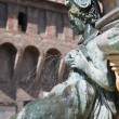 Bologna, Fountain on Piazza Maggiore — Stock Photo