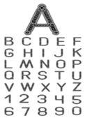 Celtic font — Stock Vector