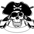 Piracy skull — Stock Vector