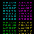 Neon color font - Stock Vector