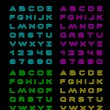 Neon color font — Stock Vector