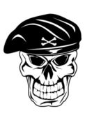 Skull in beret — Stock Vector