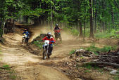 Enduro riders — Stock Photo