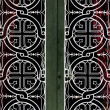 Church door iron pattern - 图库照片