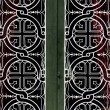 Church door iron pattern - Stock Photo