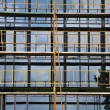 Windows and scaffold construction site — Foto de Stock