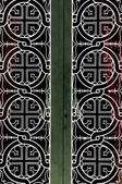 Church door iron pattern — Stock Photo