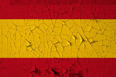 Spanish flag grunge background — Stock Photo