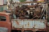 Rusty scrap metal at a junkyard — Stock Photo
