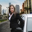 Woman in the city - Stock Photo