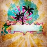 Summer beach design — Stock Photo