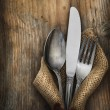 Vintage silverware — Stock Photo #11956212