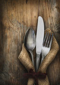 Vintage silverware — Stock Photo