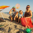 Family holidays by the sea — Stock Photo