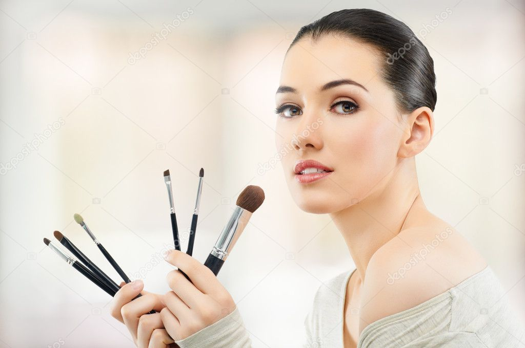 A beauty girl on the blur background  Stock Photo #10783197
