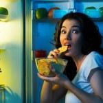 Fridge with food — Stock Photo