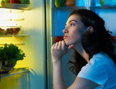 Fridge with food — Stock Photo