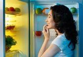 Fridge with food — Foto Stock