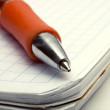 Ballpoint Pen on Notebook — Stockfoto