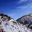 Mountains covered with snow — Stock Photo