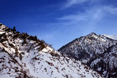 Mountains covered with snow — 图库照片