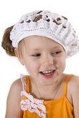 Cheerful little girl smile. — Stock Photo