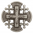 Silver Jerusalem cross — Stock Photo