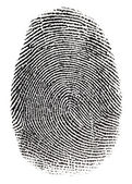 Real fingerprint — Stock Photo