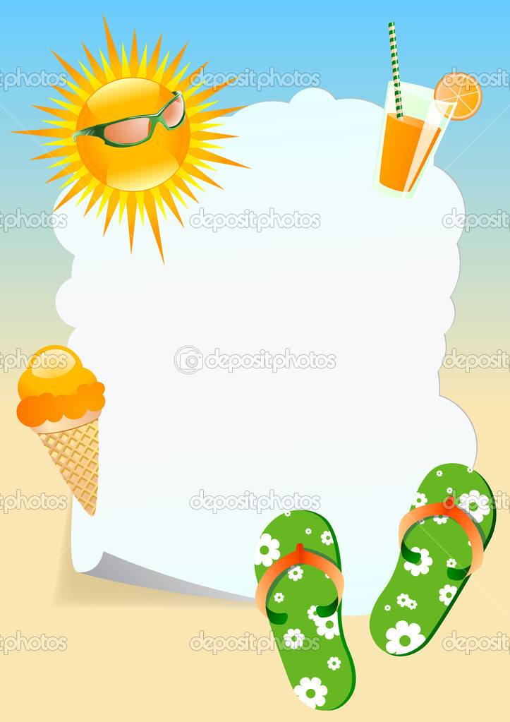 summer theme stock vector indigofish 11188150