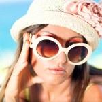 帽子の女 — Stockfoto
