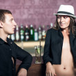 Couple in the bar — Stock Photo #10858392