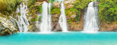 Waterfall panorama — Stock Photo